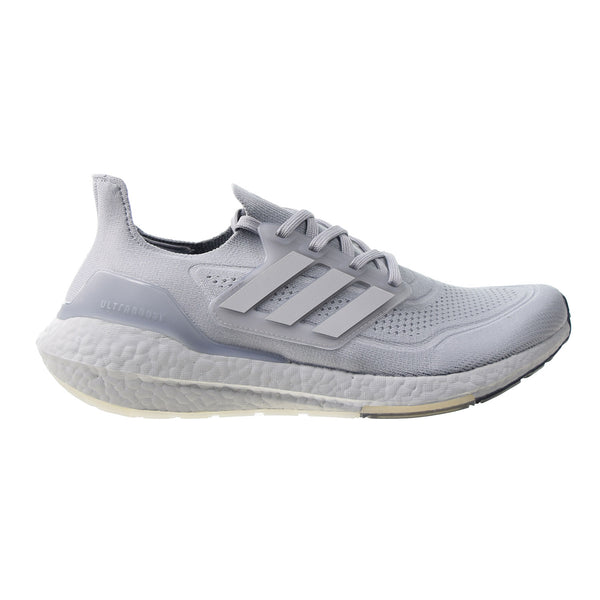Adidas Ultraboost 21 Men's Shoes Halo Silver-Grey Two-Solar Yellow