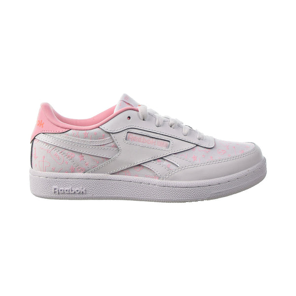 Reebok Club C Revenge Big Kids' Shoes White-Pink Glow-Twisted Coral