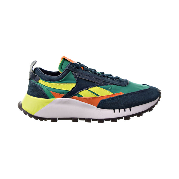 Reebok Classic Leather Legacy Men's Shoes Mineral Blue-Court Green-Solar Yellow