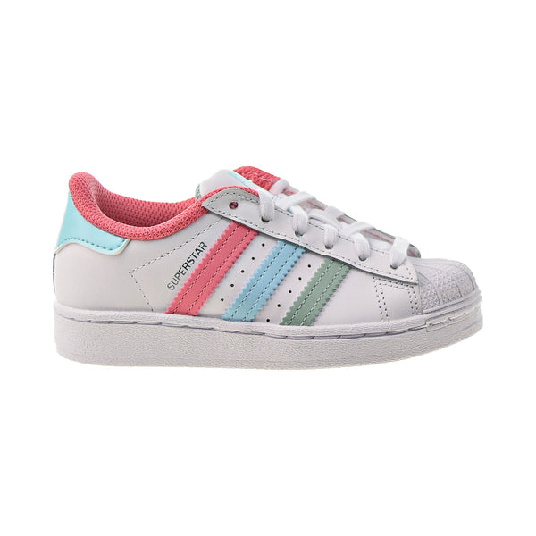 Adidas Superstar Little Kids' Shoes Cloud White-Hazy Rose-Hazy Sky