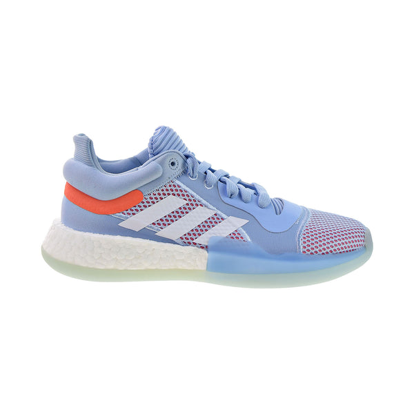 Adidas Marquee Boost Low Men's Basketball Shoes Glow Blue-Cloud White
