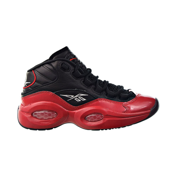 Reebok Question Mid 'Street Sleigh' Big Kids' Shoes Black-Vector Red-Black