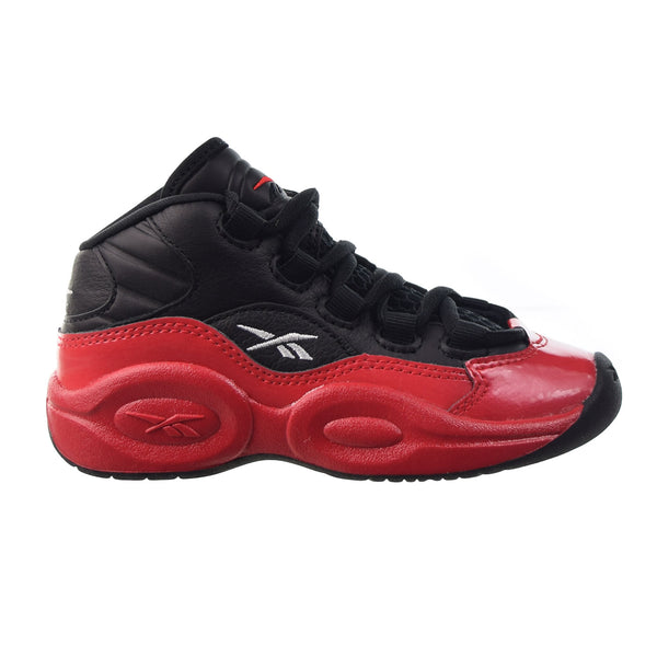 Reebok Question Mid 'Street Sleigh' Little Kids' Shoes Black-Vector Red
