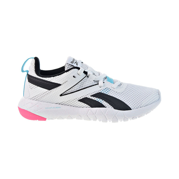 Reebok Mega Flexagon Track and Field Women's Training Shoes White-Neon Blue-Pink