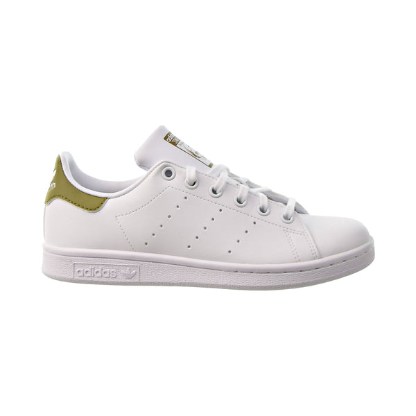 Adidas Stan Smith J Big Kids' Shoes Cloud White-Cloud White-Wild Moss