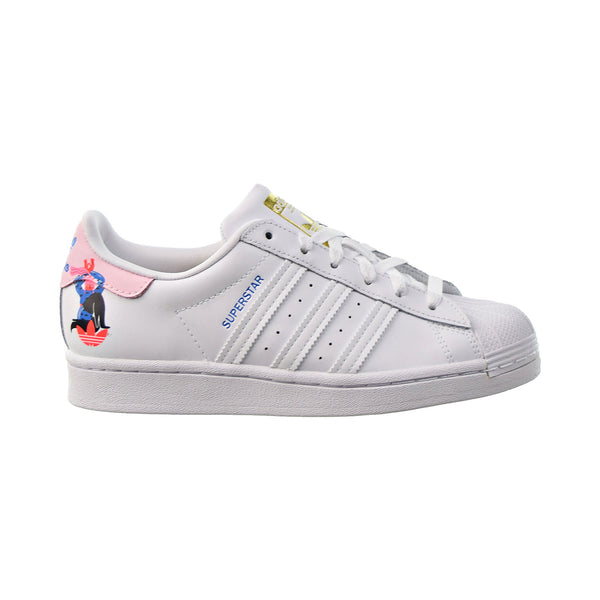 Adidas Egle Superstar Women's Shoes Cloud White-Clear Pink