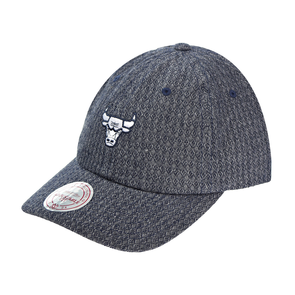 Mitchell & Ness Chicago Bulls Reverse Denim Slouch Men's Strapback Hat Cap Grey