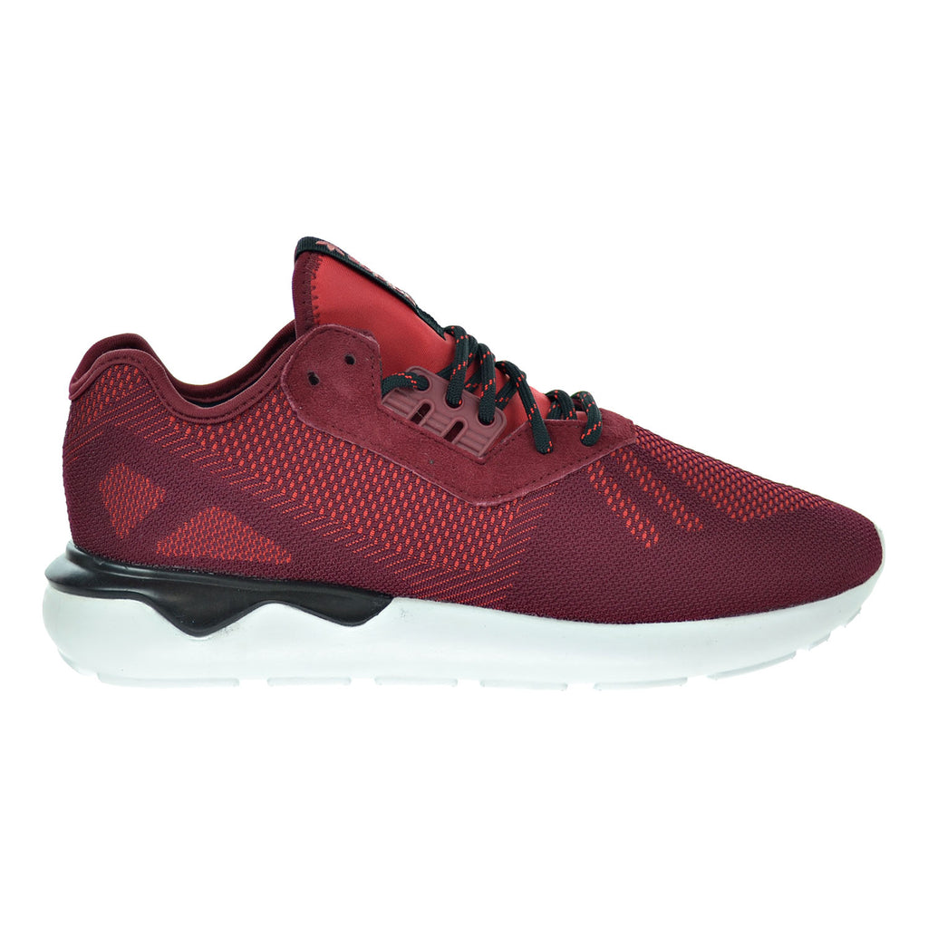 Adidas Tubular Runner Weave Men's Shoes Collegiate Burgundy/Black