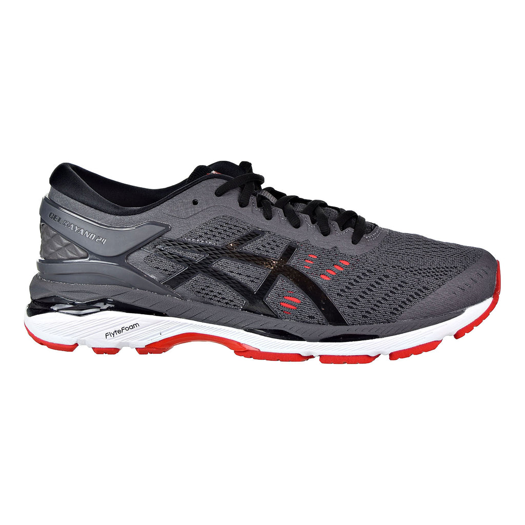 Asics Gel Kayano 24 Men's Running Shoes Dark Grey/Black/Fiery Red