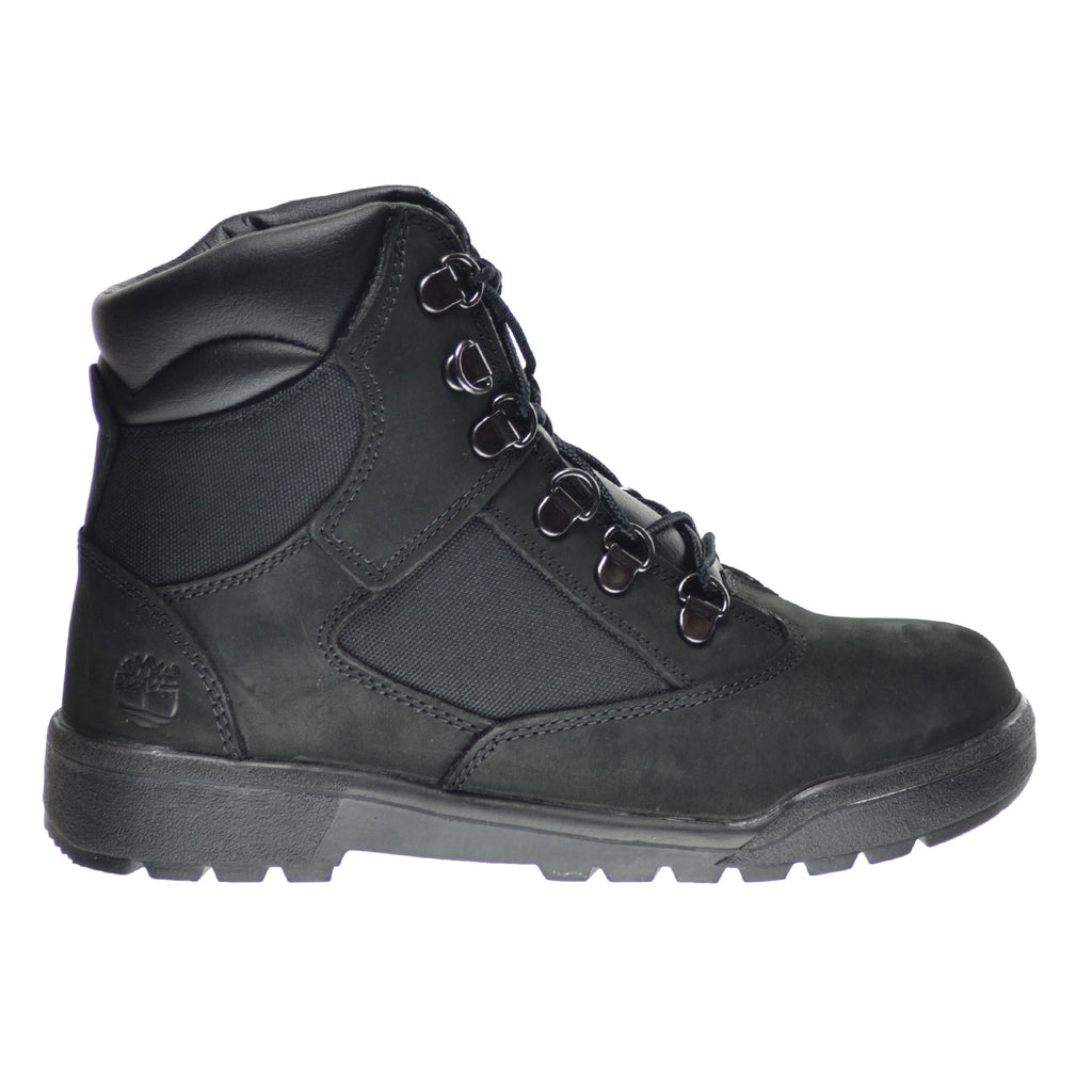 Timberland 6 Inch Big Kid's Field Boots Black Nubuck