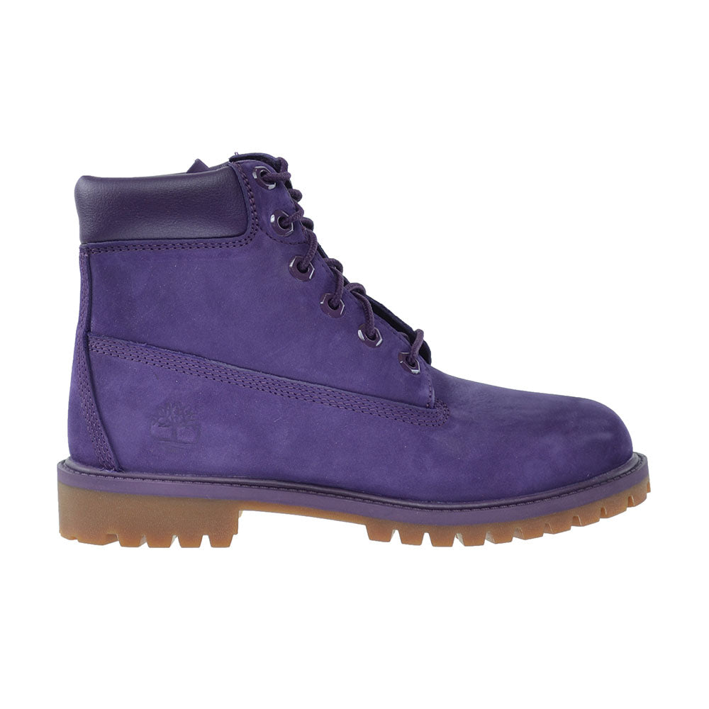 Timberland 6 Inch Premium Waterproof Big Kid's Boots Purple