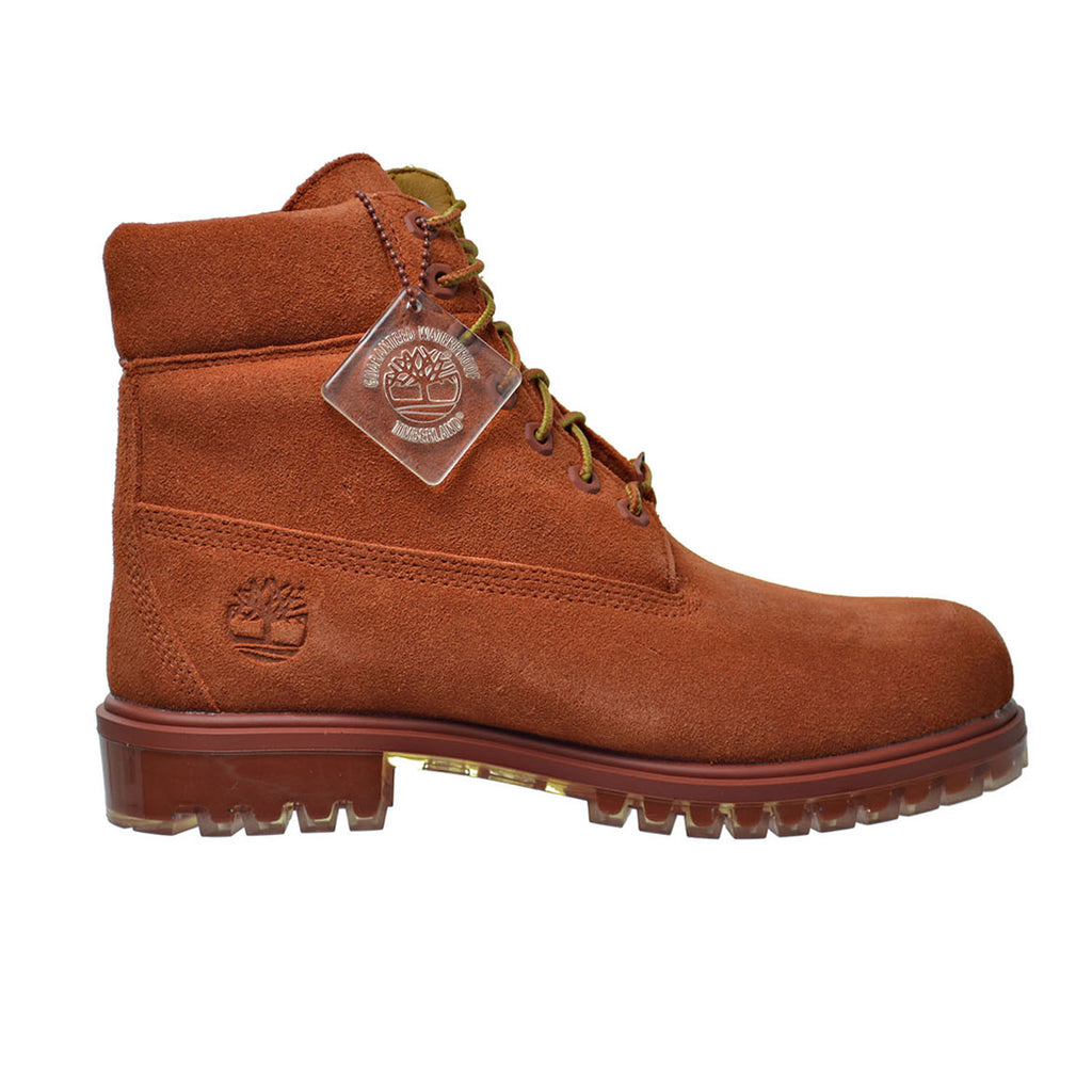"Timberland 6 Inch Premium Suede ""Autumn Leaf"" Mens Boots Brown"