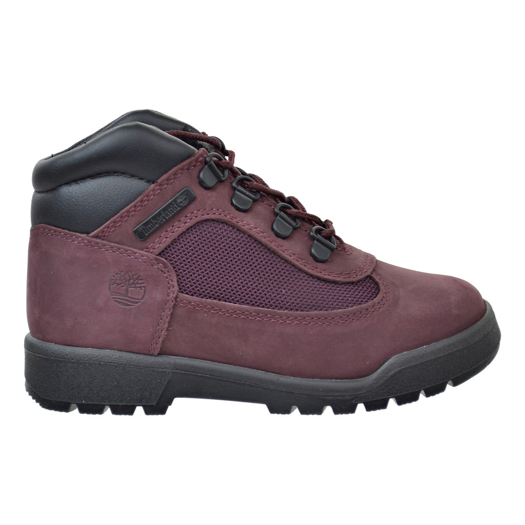 Timberland 6 Inch Preschool Little Kids Field Boots Burgundy