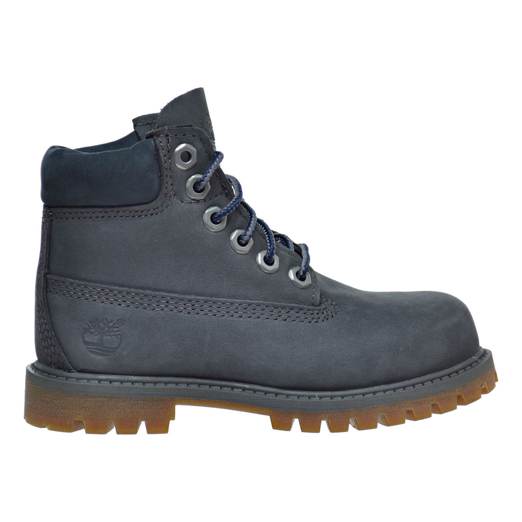 Timberland 6 Inch Premium Waterproof Toddler's Boots Dark Grey Nubuck