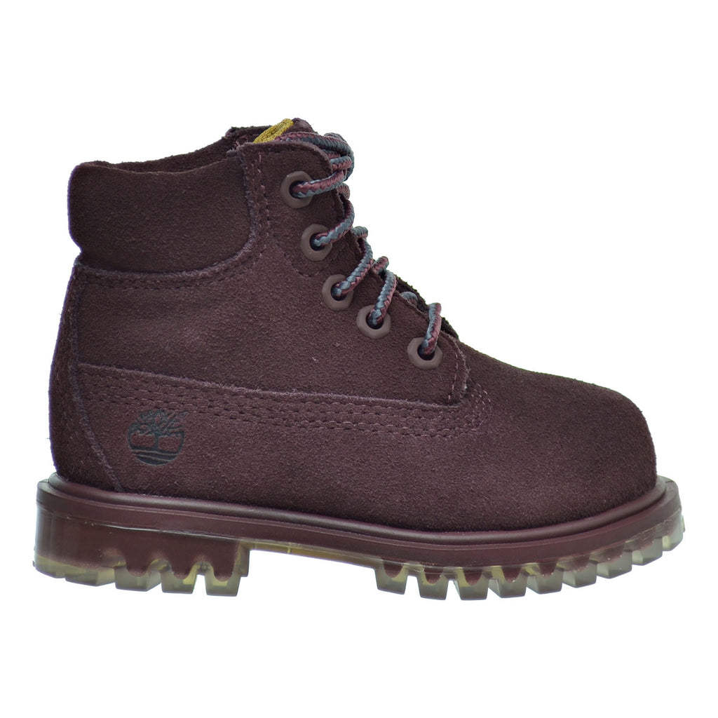Timberland 6 Inch TPU Outsole Waterproof Suede Premium Toddler Boots Dark Red