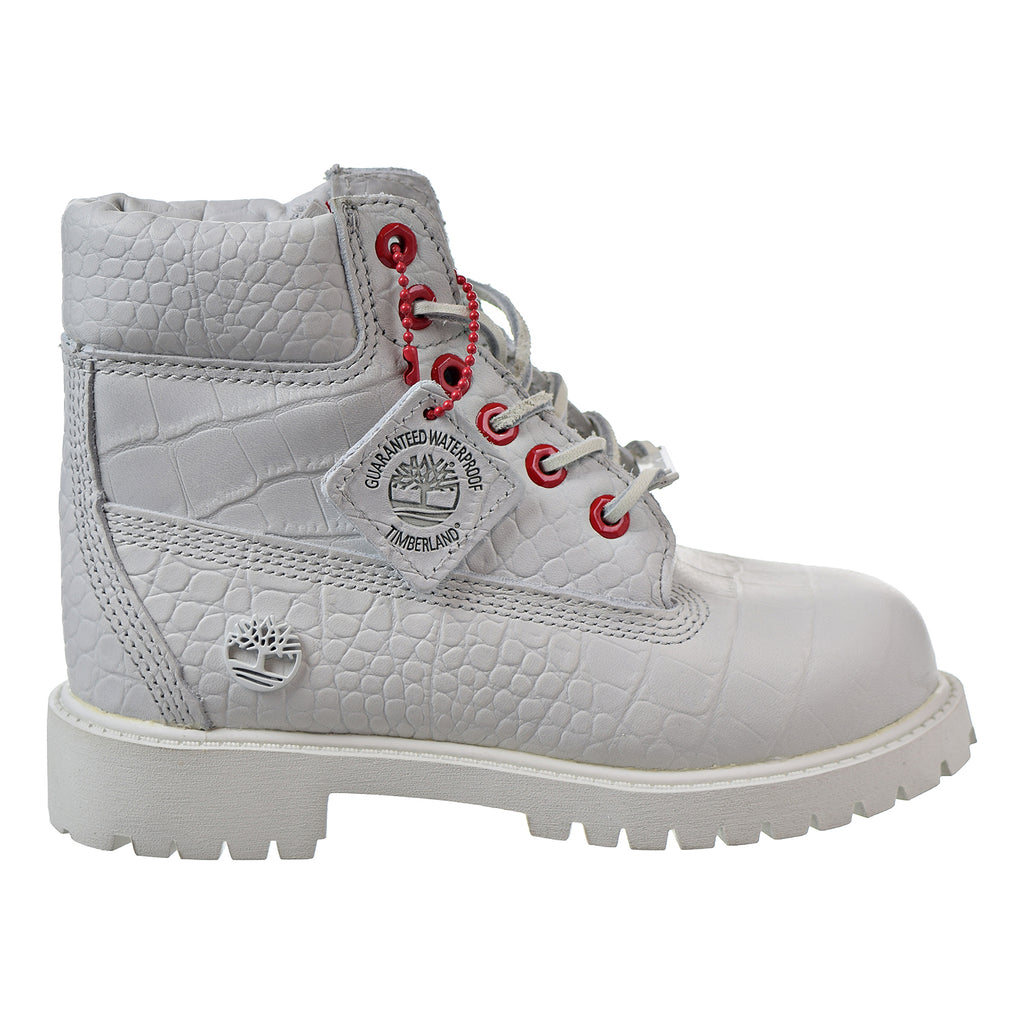 Timberland 6 Inch Youth Little Kids' Boots White