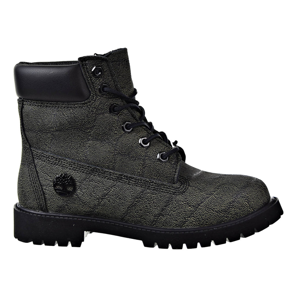 Timberland 6 Inch Premium Juniors Boots Gray Earth Helcore Leather