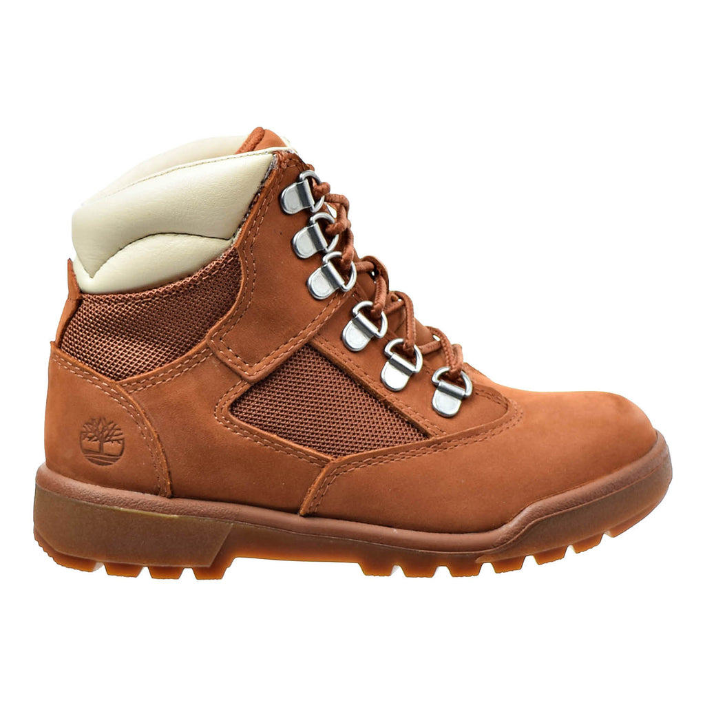 Timberland 6 Inch Youth's Field Boots Dark Orange