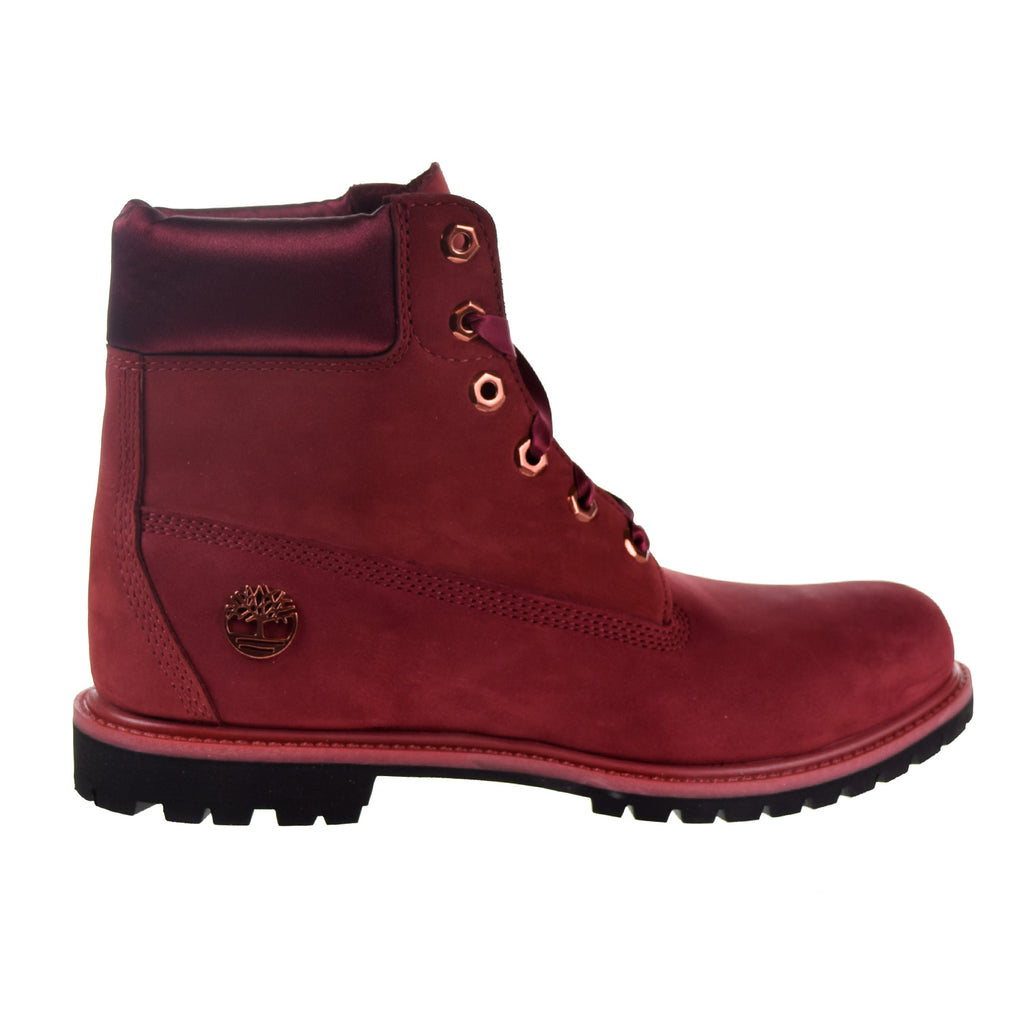 "Timberland 6"" Waterproof Women's Boots Burgundy"