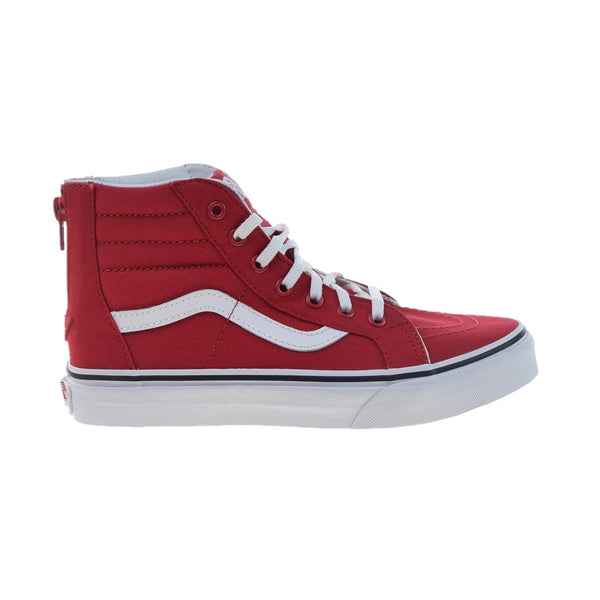 Vans Sk8-Hi Zip Big Kids' Shoes Racing Red-True White
