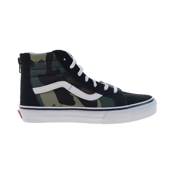 Vans SK8-Hi Zip Big Kids' Shoes Black-Woodland