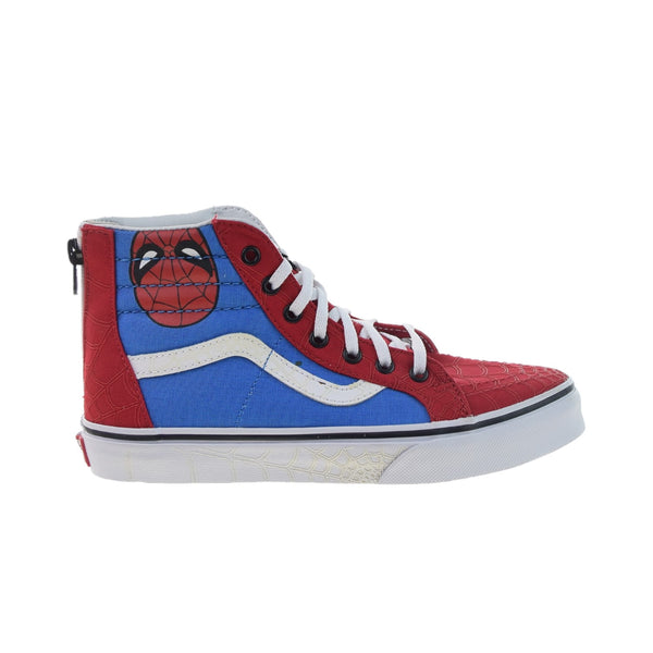 Vans SK8-Hi Zip Marvel Big Kids' Shoes Spiderman-True White