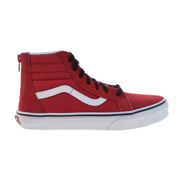 Vans SK8-Hi Zip Big Kids' Shoes Pop Racing Red-Black