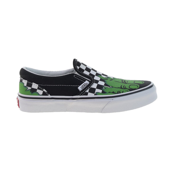 Vans x Marvel Classic Slip-On Big Kids' Shoes Hulk-Checkerboard