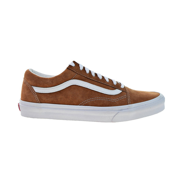 Vans Old Skool Men's Shoes Leather Brown-True White