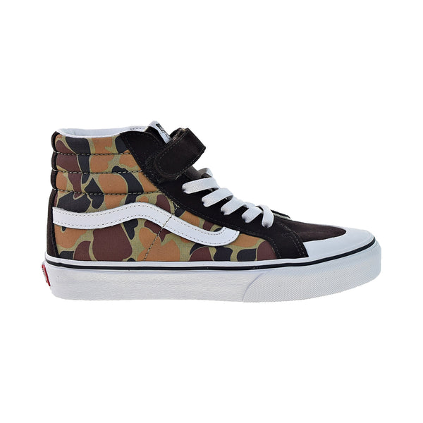 Vans Sk8-Hi Reissue 13 Camo Big Kids' Shoes Chocolate Torte-True White