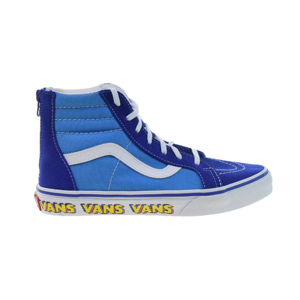 Vans Sk8-Hi Zip Big Kids' Shoes Blue-White