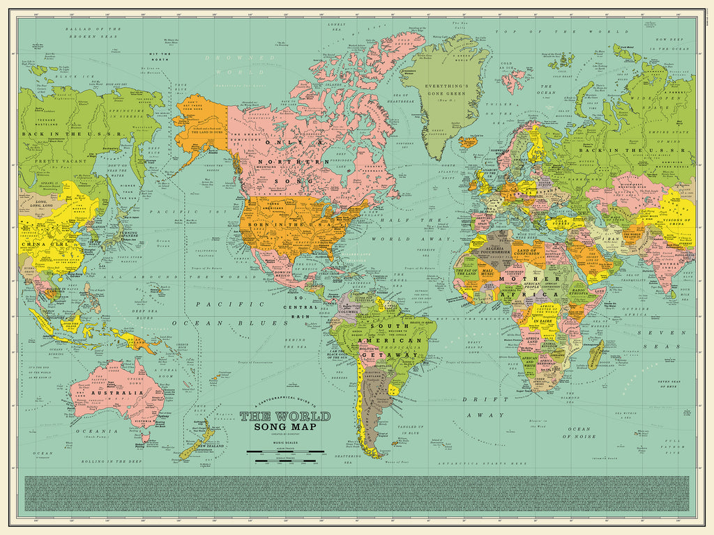 Dorothy's World Song Map Playlist
