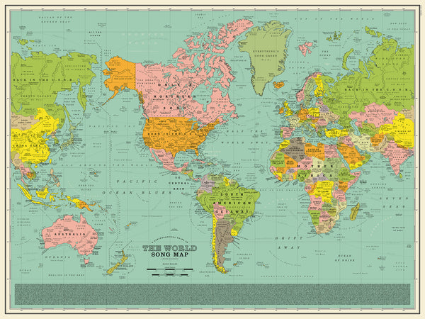 Map Of The World In Detail.Devil In The Detail World Song Map Dorothy