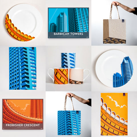 Destination Barbican - Print and Homeware Range for Barbican, London