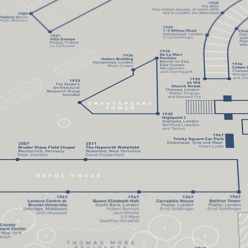 Brutalist Love Blueprint - Exclusive Edition for Barbican, London