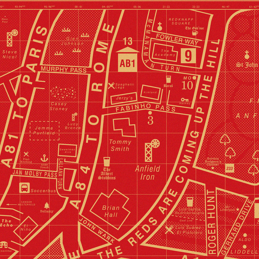 Liverpool FC Map - Exclusive Edition for Liverpool Football Club