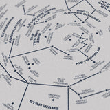 Science Fiction Star Chart - Original Open Edition