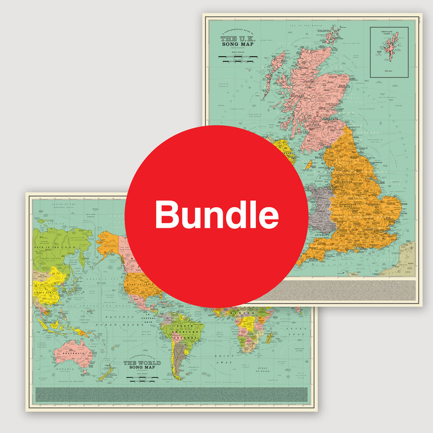 Maps: Special Offer Bundle - U.K. Song Map & World Song Map
