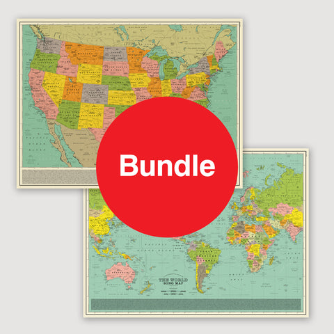 Maps: Special Offer Bundle - U.S.A Song Map & World Song Map