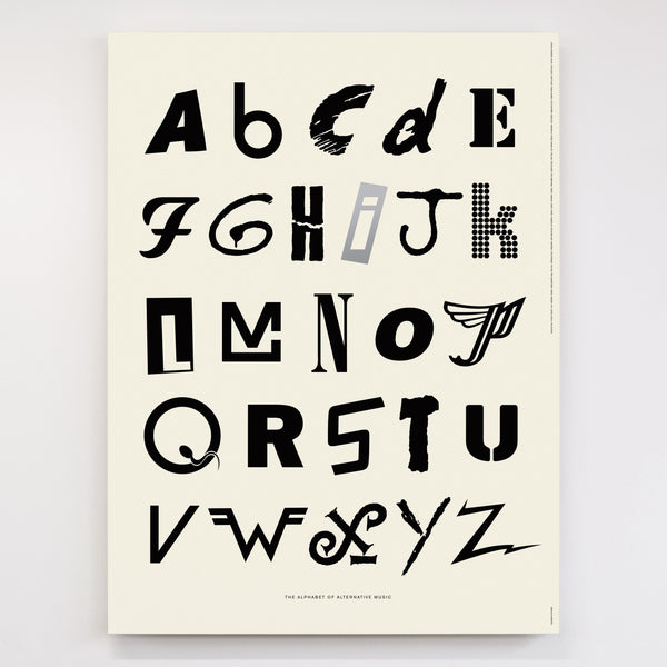 Alphabet of alternative music original open edition dorothy - Lettre alphabet original ...