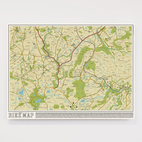 Bike Map - Original Open Edition