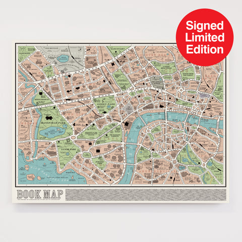 Book Map - Signed Limited Edition