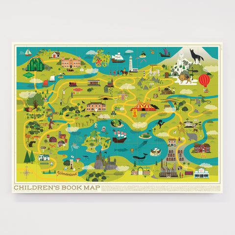 Children's Book Map - Original Open Edition