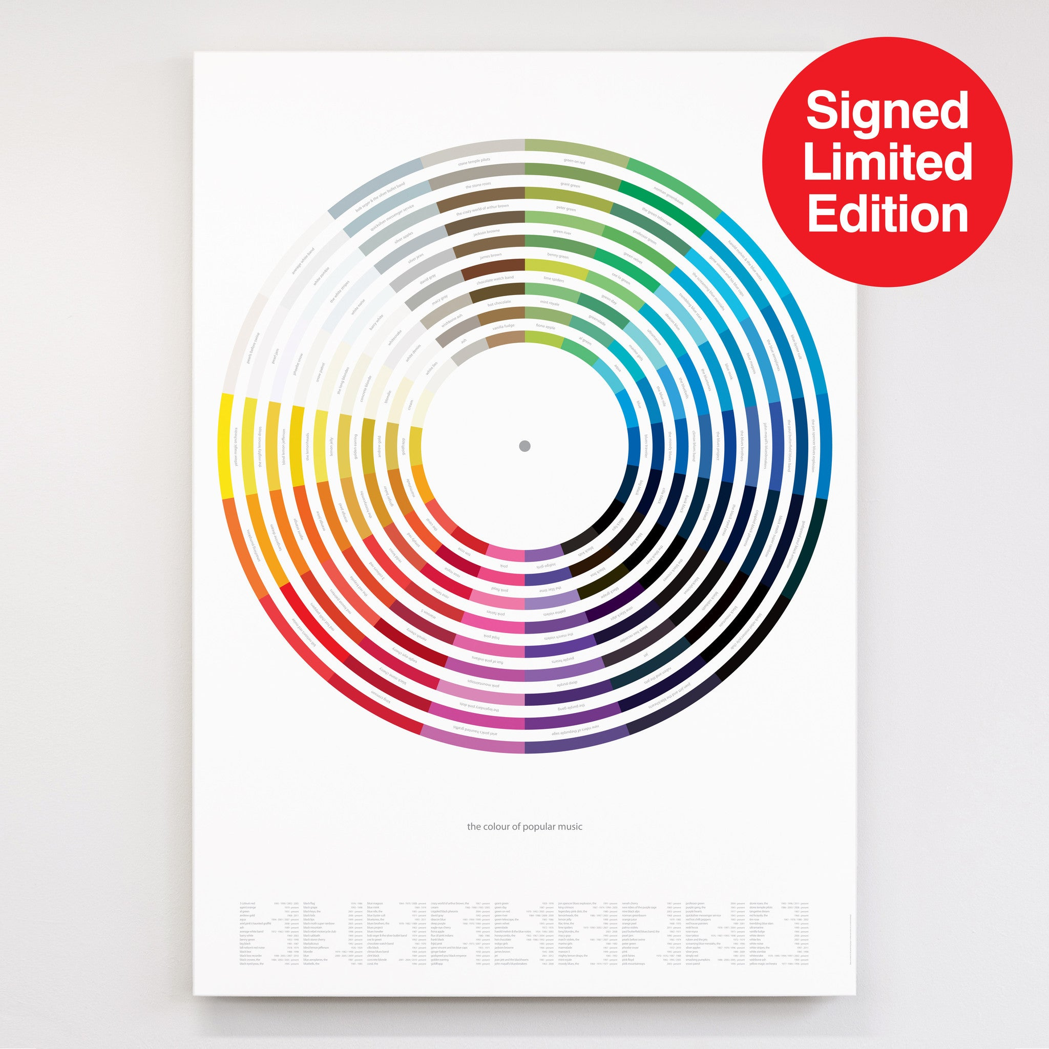 The Colour of Popular Music - Signed Limited Edition