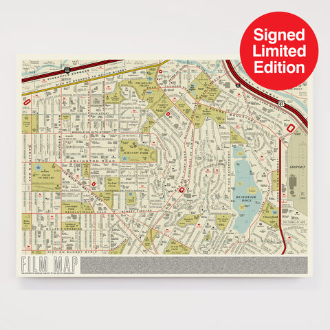 Film Map - Signed Limited Edition