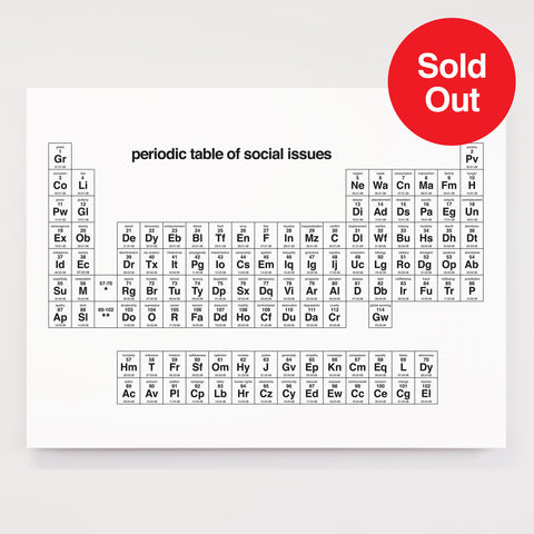 Periodic Tables of Social Issues - Signed Limited Edition
