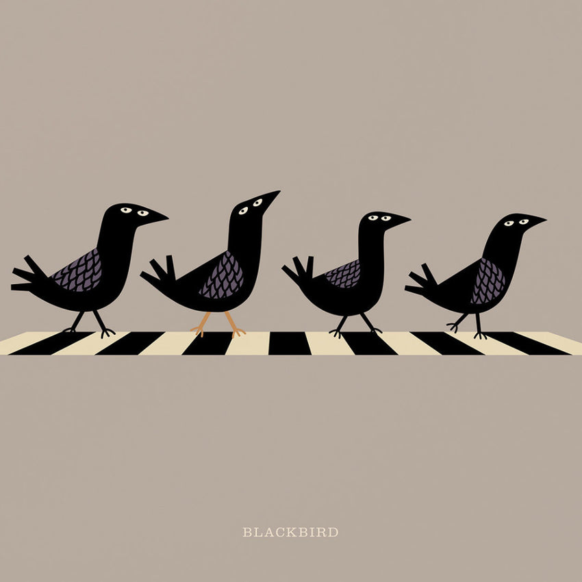 "Rock 'N Roll Zoo: Blackbird - 12"" Print"
