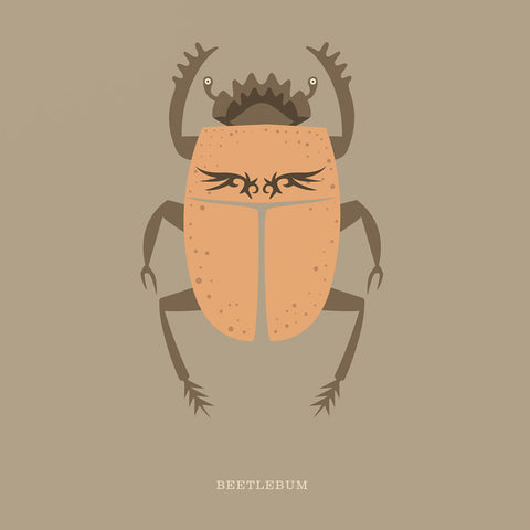 "Rock 'N Roll Zoo: Beetlebum - 12"" Print"