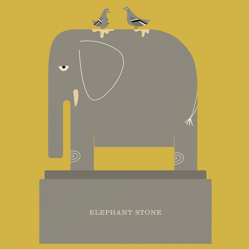 "Rock 'N Roll Zoo: Elephant Stone - 12"" Print"