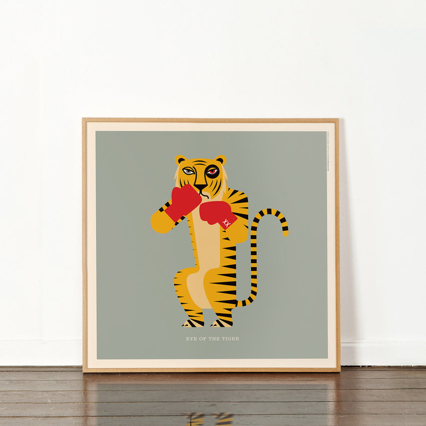 "Rock 'N Roll Zoo: Eye of the Tiger - 12"" Print"